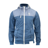Mens Jacket Crosshatch Branded Zipped  Casual Hooded Waterproof Windbreaker Coat - Kandor Clothing Company Ltd UK