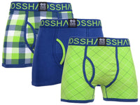 Mens Boxers Crosshatch Shorts Tar 3PK Trunks Underwear Gift Set 3 Pack XL-XXL - Kandor Clothing Company Ltd UK