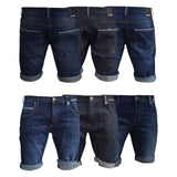 Mens Denim Short Summer Designer Firetrap Camley Jeans  Knee Length Pants - Kandor Clothing Company Ltd UK