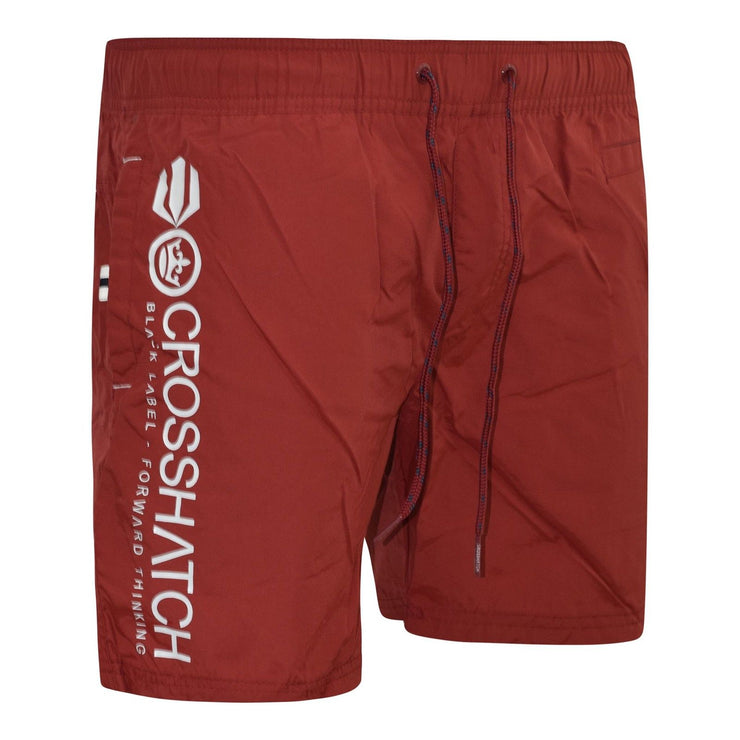 Mens Swim Shorts Crosshatch Designer Jennis Mesh Lined Surf Board Trunks - Kandor Clothing Company Ltd UK