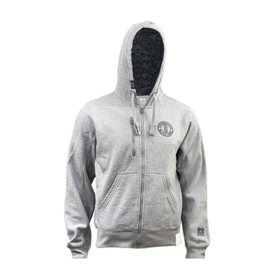 Mens Hoodie  Crosshatch Grabble Borge Zip Up Sweaters Fleece Lined Hoodie - Kandor Clothing Company Ltd UK
