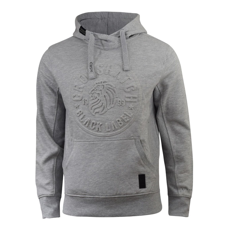 Mens Hoodie Crosshatch Designer Novak Embossed Sweat Hooded Sweatshirt - Kandor Clothing Company Ltd UK