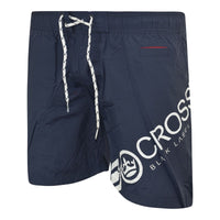 Mens Crosshatch Designer Swim Shorts New Mesh Lined Casual Beach Swimming Trunk - Kandor Clothing Company Ltd UK