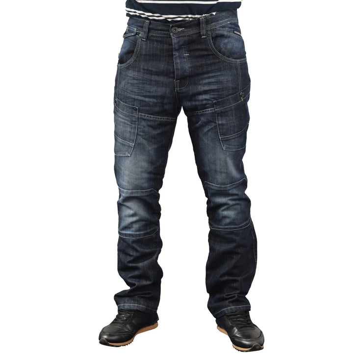 Mens Cargo jeans Crosshatch Lopes - Kandor Clothing Company Ltd UK