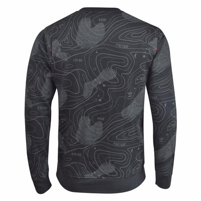 Mens Sweatshirt Firetrap Crew Neck Print Jumper Radison Sweat Top - Kandor Clothing Company Ltd UK