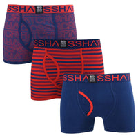 Mens Boxers Crosshatch Shorts Borderline 3PK Trunks Underwear Gift Set 3 Pack S- - Kandor Clothing Company Ltd UK