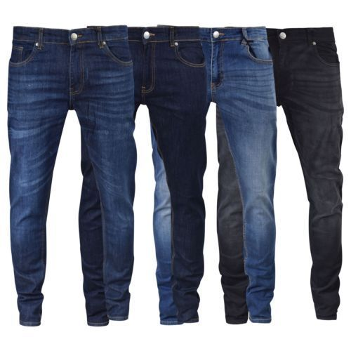 Mens Jeans Firetrap Deadly Skinny Stretch Cotton Denim Pants - Kandor Clothing Company Ltd UK