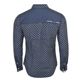 Mens Firetrap Denim Long Sleeve Shirt Rotary Printed Top - Kandor Clothing Company Ltd UK