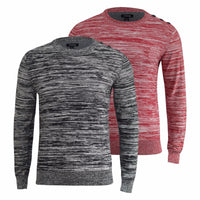 Mens Jumper by Firetrap Cobbold Long Long Sleeve Sweater - Kandor Clothing Company Ltd UK