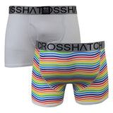 Mens Boxers Crosshatch Shorts 2PK And 3PK Trunks Underwear Gift  S-XXL - Kandor Clothing Company Ltd UK