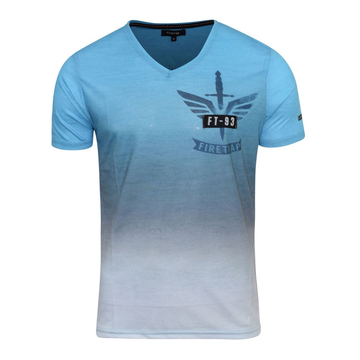 Mens Firetrap T-Shirt  Short Sleeve Crew & Vee Neck Cotton Print Tee Top - Kandor Clothing Company Ltd UK