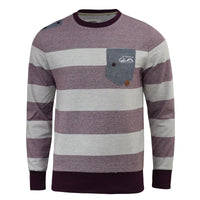 Mens Jumper Smith and Jones Stripped Sweatshirt Casek Sweater Pullover - Kandor Clothing Company Ltd UK