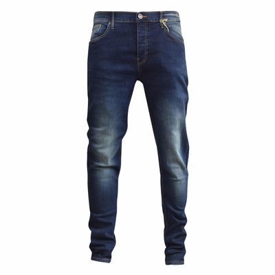 Mens Jeans Vint Wash Firetrap Deadly Skinny Stretch Cotton Denim Pants - Kandor Clothing Company Ltd UK