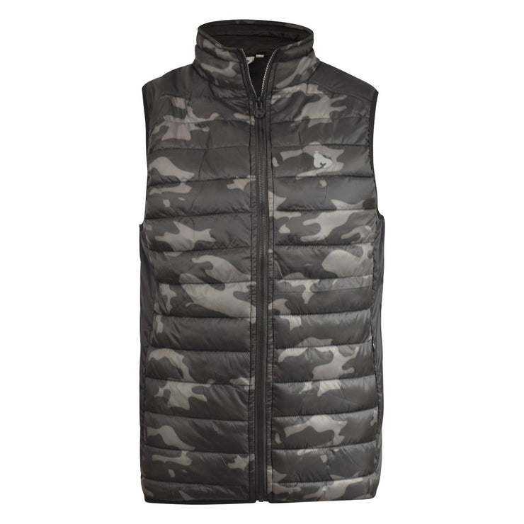 Mens Jacket Camo Gilet Money Clothing  Sleeveless Coat - Kandor Clothing Company Ltd UK