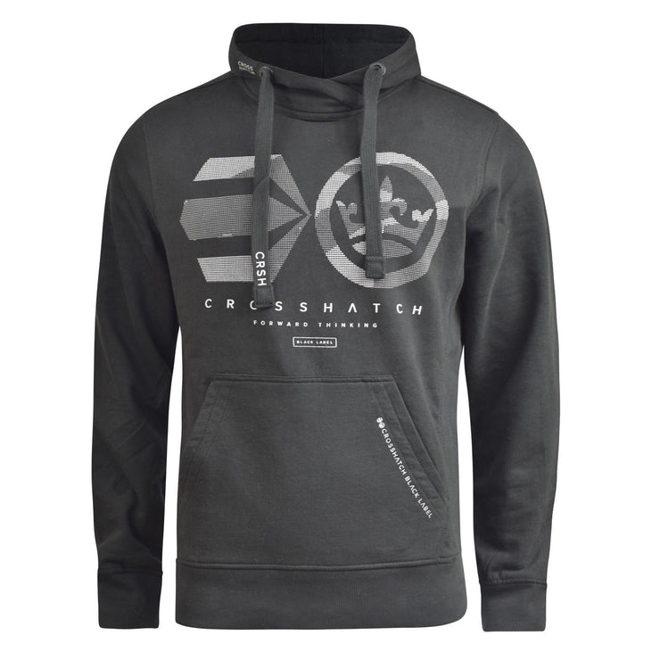 Mens Hoodie Crosshatch Logocamo Sweatshirt  Hooded Top - Kandor Clothing Company Ltd UK