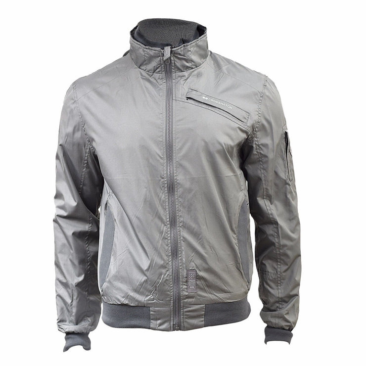 Mens Jacket Crosshatch Winsford Double Layer Funnel Neck Windbreaker Coat