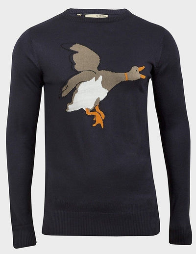 Men Swirtshirt LongSleeve Brave Soul Mens Duck Pullover M, L, XL Duck Front - Kandor Clothing Company Ltd UK