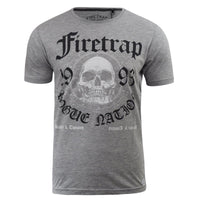 Mens T-Shirt Firetrap Graphic Printed Keyser Cotton Crew Neck Casual Tee - Kandor Clothing Company Ltd UK
