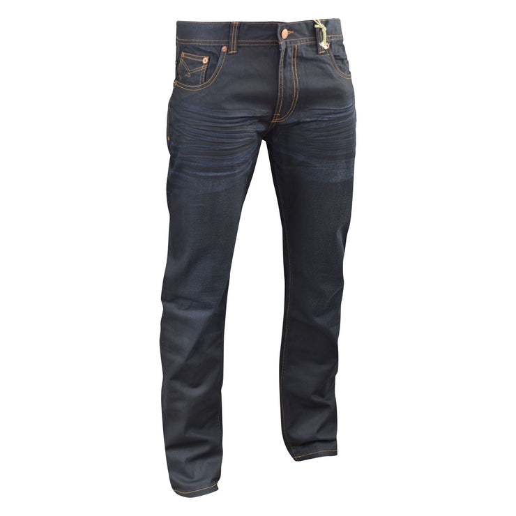 Mens Jeans Firetrap Deadly Original Coated Straight Slim Cotton Denim Pants Trou - Kandor Clothing Company Ltd UK