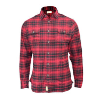 MENS SHIRT  BRUSHED CHECK SHIRT LONG SLEEVE THICK COTTON CASUAL TOP (S-XL) - Kandor Clothing Company Ltd UK