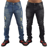 Mens Jeans Trousers Loyalty and Faith Skinny Rip Denim Casual Pants - Kandor Clothing Company Ltd UK
