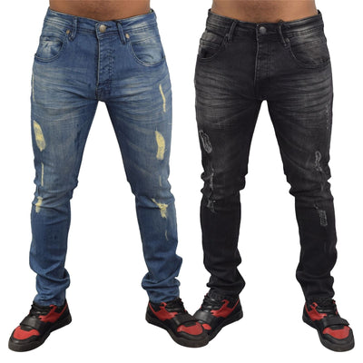 Mens rip Denim Jeans Loyalty and faith - Kandor Clothing Company Ltd UK