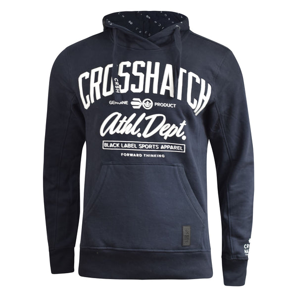 Mens Hoodie Crosshatch Reynard Sweatshirt  Hooded Top Pullover