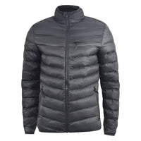 Mens Jacket Crosshatch Bubble Quilt Padded Full Zip Winter Coat - Kandor Clothing Company Ltd UK