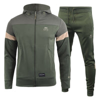 Mens CrosshatchTracksuit Full Zip Jogging Trouser Gym Bottoms Pants - Kandor Clothing Company Ltd UK