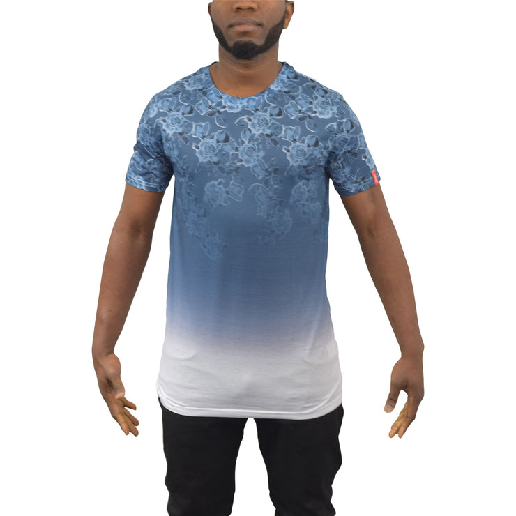 Mens T-Shirt Juice Ombre Sublimated LonglineTee Top - Kandor Clothing Company Ltd UK