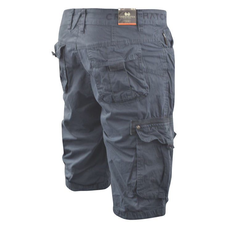 Mens Crosshatch Chinos Cargo Shorts Jeans Combat 3/4 Knee Length Chaseforth - Kandor Clothing Company Ltd UK