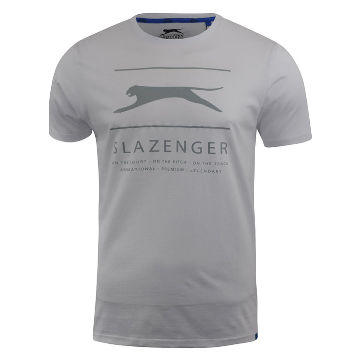 Mens T-shirt  Slazenger Graphic Crew Neck  Tee  Top Kinley - Kandor Clothing Company Ltd UK