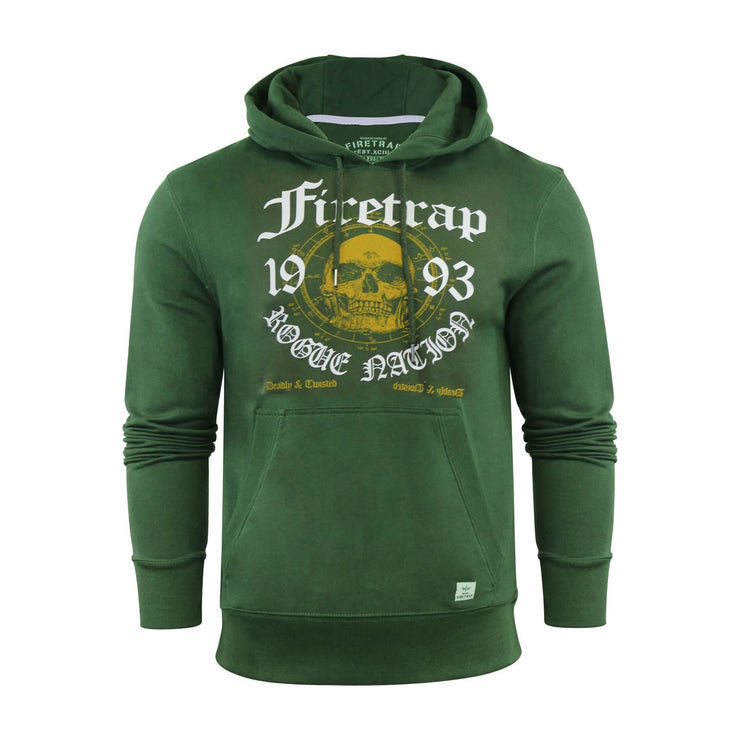 Mens Hoodie Firetrap Sweatshirt Hooded Top Keyson Pullover Alt - Kandor Clothing Company Ltd UK