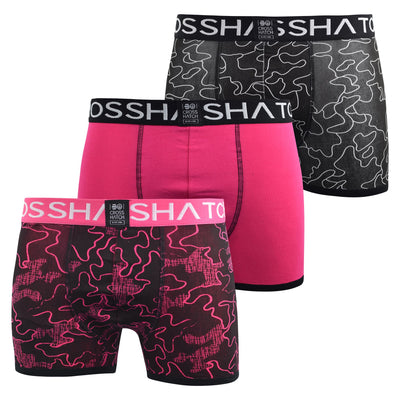 Mens Boxers Shorts Crosshatch Multipacked 3PK Underwear Gift Set 3 Pack Botany - Kandor Clothing Company Ltd UK