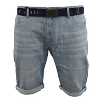 Mens Denim Short Smith and Jones Belted Redfield Pants - Kandor Clothing Company Ltd UK