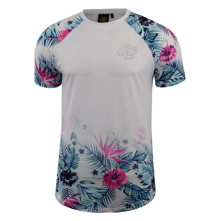 Mens T-shirt Crosshatch  Floral Print Top - Kandor Clothing Company Ltd UK