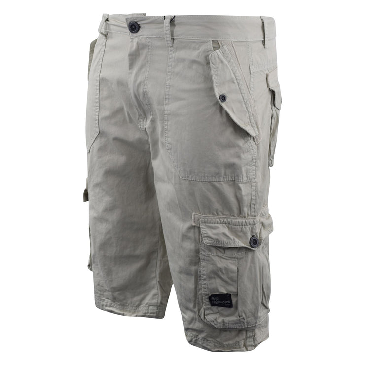 Mens Crosshatch Chinos Cargo Shorts Jeans Combat 3/4 Knee Length Mayfield - Kandor Clothing Company Ltd UK