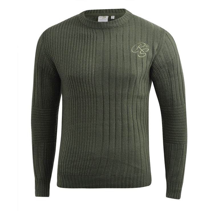 Mens Knitwear Crosshatch Sweater Textured Knitted Jumper - Kandor Clothing Company Ltd UK