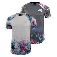 Mens T-shirt Crosshatch  Floral Print Top