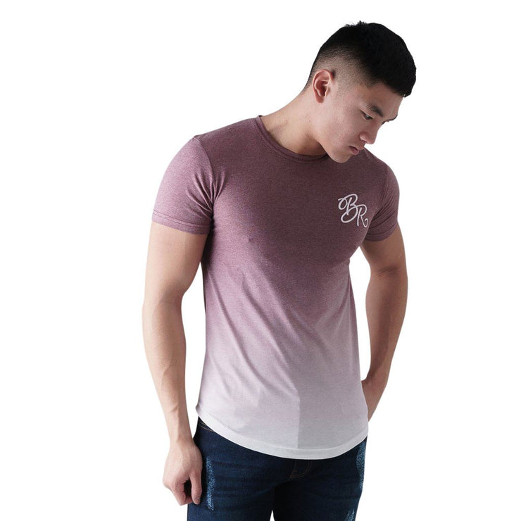 Mens T-shirt Born Rich Romero Gradual Fade Crew Neck Tee Top - Kandor Clothing Company Ltd UK