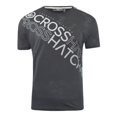 Mens Crosshatch T-Shirt Graphic Crew Neck Tee Top Concept Gradients - Kandor Clothing Company Ltd UK