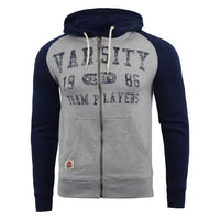 Mens Hoodie Varsity Sweatshirt Full Zip  Hooded Jumper Top Pullover Dakota - Kandor Clothing Company Ltd UK