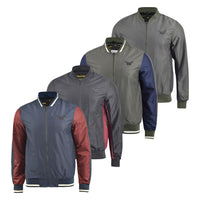 Mens Jacket Windbreaker Contrast Showerproof Hooded Summer Coat - Kandor Clothing Company Ltd UK