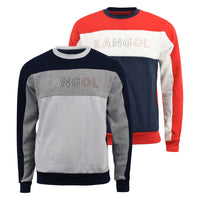 Mens Jumper Kangol Sweatshirt Crew Neck Smart Casual Top - Kandor Clothing Company Ltd UK