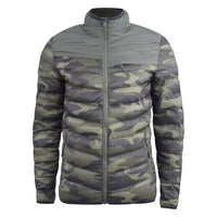 Mens jacket crosshatch bubble quilt Chankford - Kandor Clothing Company Ltd UK