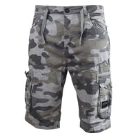 Mens cargo shorts crosshatch army camo utility - Kandor Clothing Company Ltd UK