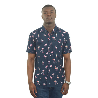 Mens Hawaiian Shirt Funky Casual Summer Top Flammy - Kandor Clothing Company Ltd UK