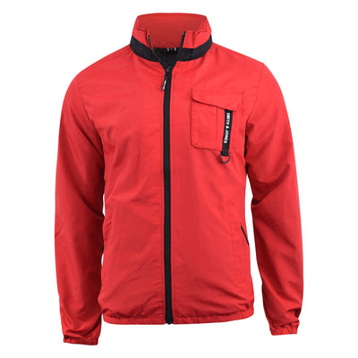 Mens Jacket Smith and Jones  Windbreaker Contrast Showerproof Hooded Summer Coat - Kandor Clothing Company Ltd UK