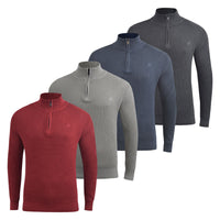 Men's Jumper Duck and Cover Designers Knitwear 1/4 Zip Neck - Kandor Clothing Company Ltd UK