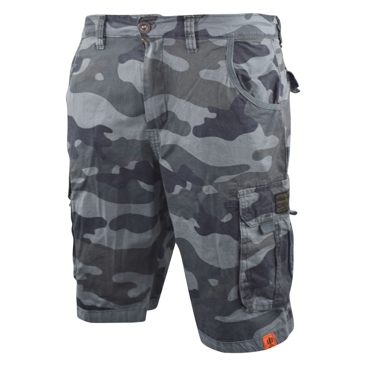 Mens Crosshatch Chinos Camo Cargo Shorts Jeans Combat 3/4 Knee Length Watchford - Kandor Clothing Company Ltd UK